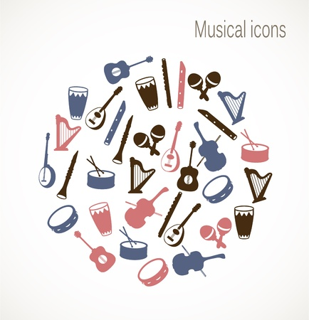 tambourine: Musical instrument icons