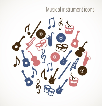 Musical icons Stock Vector - 17727247