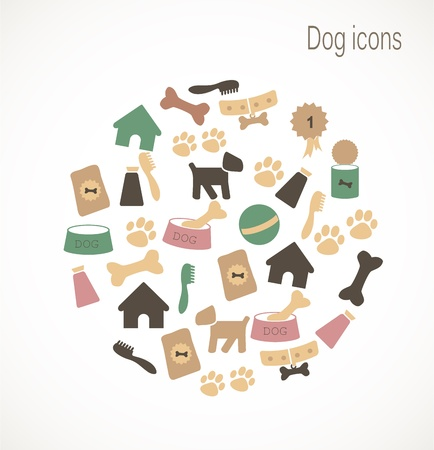dog toy: Dog icons