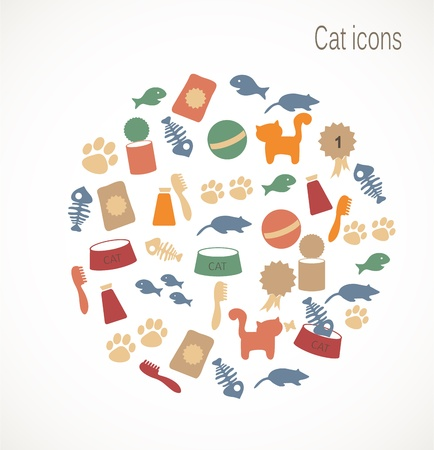 Cat icons Stock Vector - 17727251