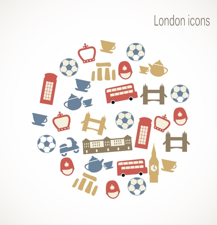 London icons Stock Vector - 17727270