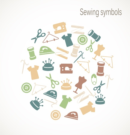 set form: Sewing symbols