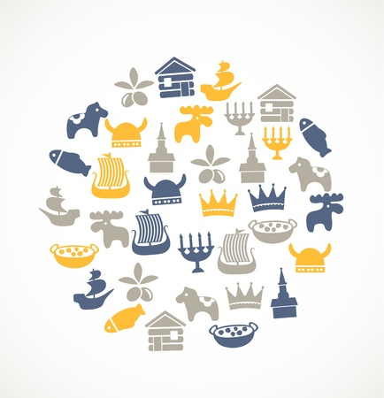Swedish icons Stock Vector - 17780251