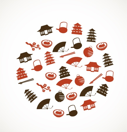 Japanese icons Stock Vector - 17780249