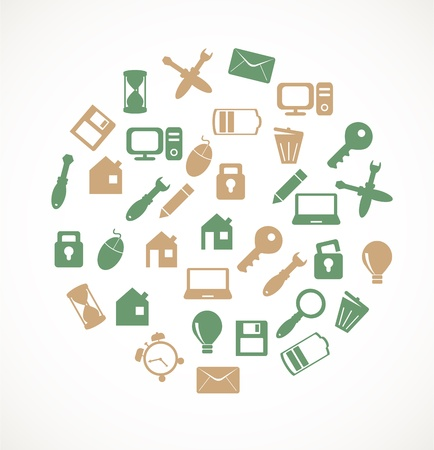 Computer icons Stock Vector - 17780235
