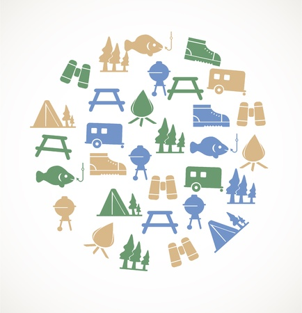 picnic table: Camping icons