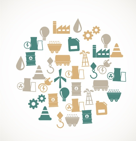 Energy and industry icons Stock Vector - 17924711