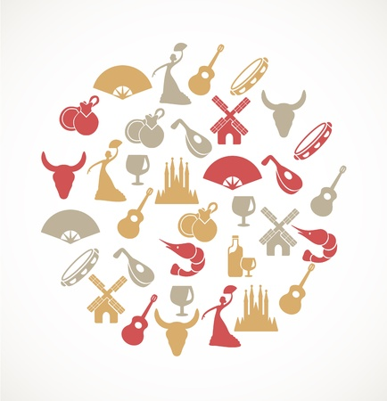 lute: Spain icons