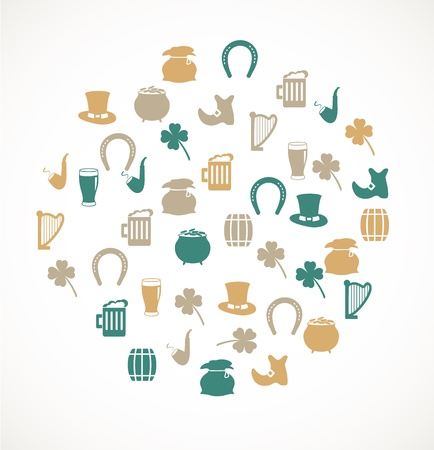 irish pride: St Patricks Day icons