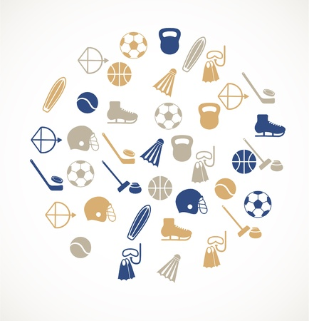 activity exercising: Sport equipment icons