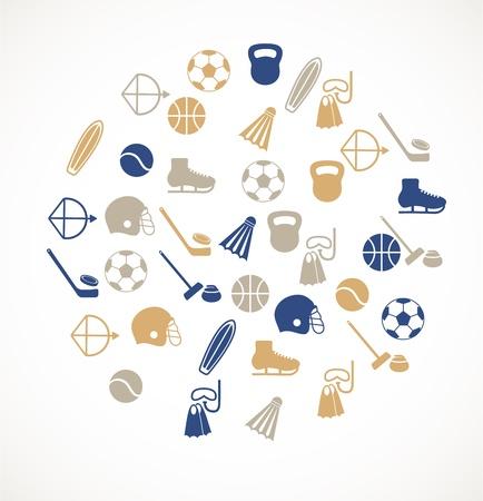activity icon: Sport equipment icons