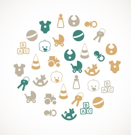 Babies icons Stock Vector - 17924708
