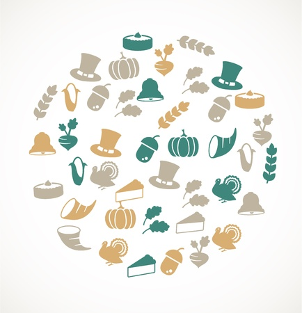 Thanksgiving icons Stock Vector - 17924724