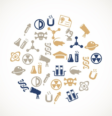 Science icons Stock Vector - 17924698