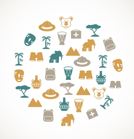 african drums: Africa symbols Illustration
