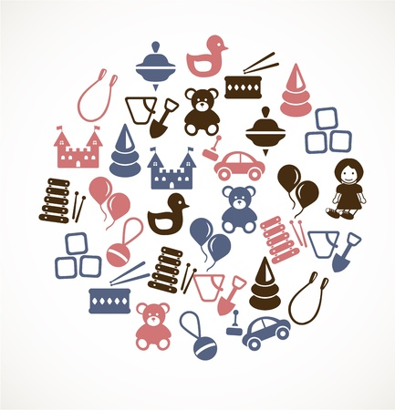 baby playing toy: Toy icons