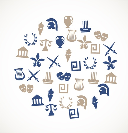 Greece symbols Illustration