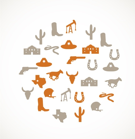 Texas icons Stock Vector - 17924583