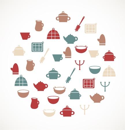 Kitchen symbols Stock Vector - 17924588