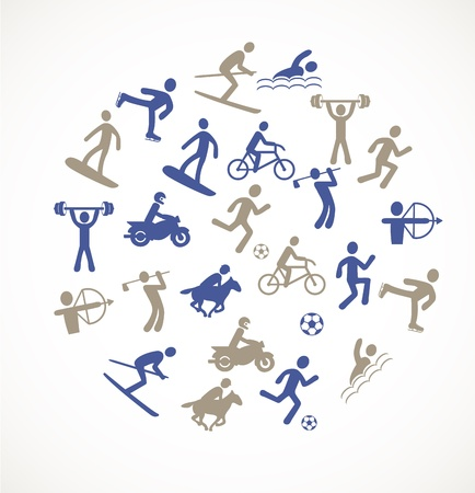 activity icon: Games and sport icons