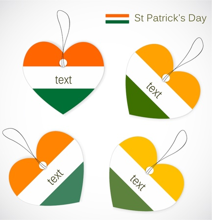 St. Patrick day tags Vector