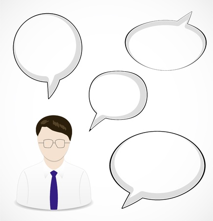 thinking bubble: Man and speech bubbles