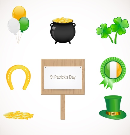 St Patrick icons Stock Vector - 18169159