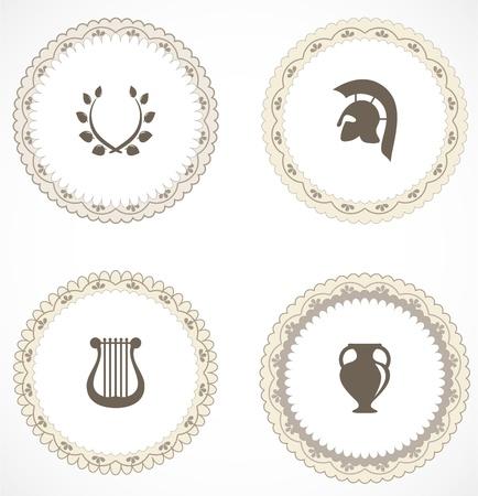 sparta: Vintage Labels mit Symbolen