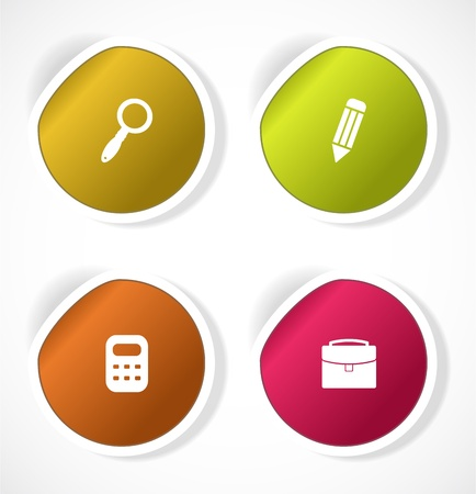 Set of stickers with icons Stock Vector - 18499994