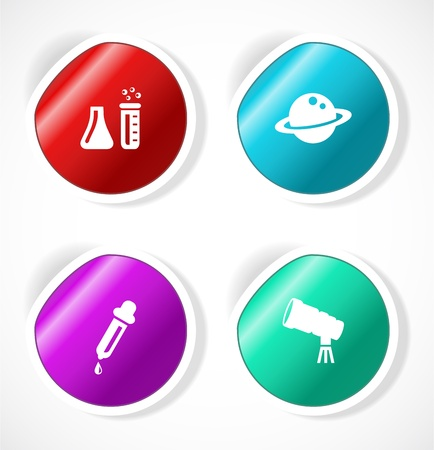 Set of stickers with icons Stock Vector - 18500274