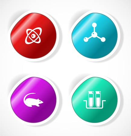 Set of stickers with icons Stock Vector - 18500270