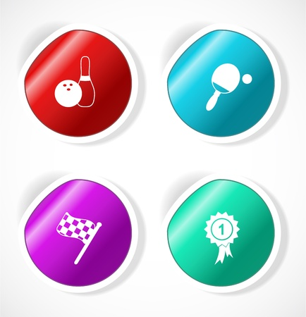Set of stickers with icons Stock Vector - 18500280
