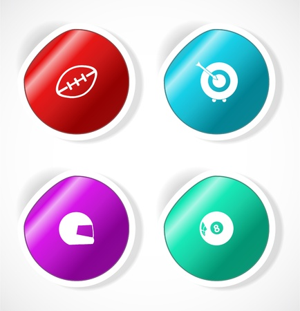 Set of stickers with icons Stock Vector - 18500266