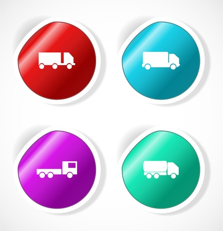 Set of stickers with icons Stock Vector - 18483686