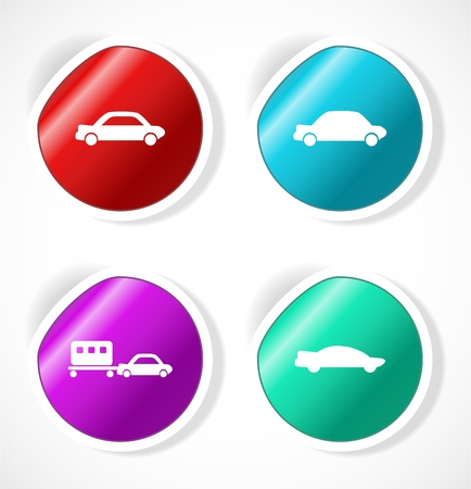 Set of stickers with icons Stock Vector - 18500275