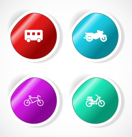 Set of stickers with icons Stock Vector - 18483709