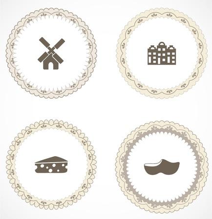 MOLINOS DE VIENTO: Las etiquetas del vintage con iconos