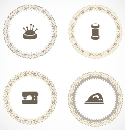 handmade shape: Vintage labels with icons