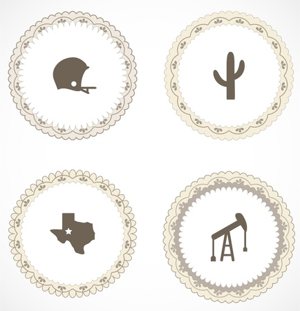 Vintage labels with icons Stock Vector - 18867317