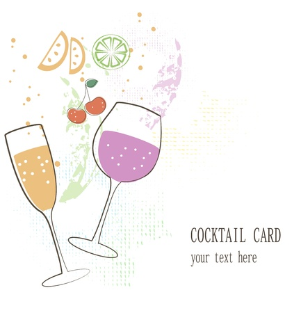 lime juice: Cocktail card