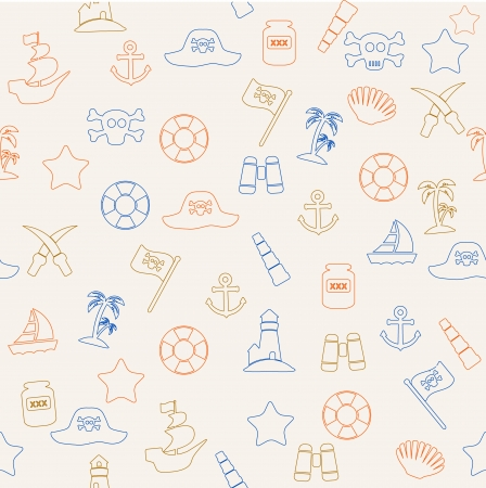Pirate seamless pattern Vector