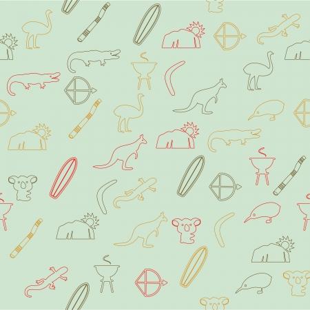 australian culture: Australian seamless pattern