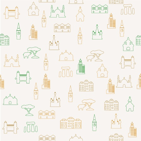 london bridge: Travel seamless pattern