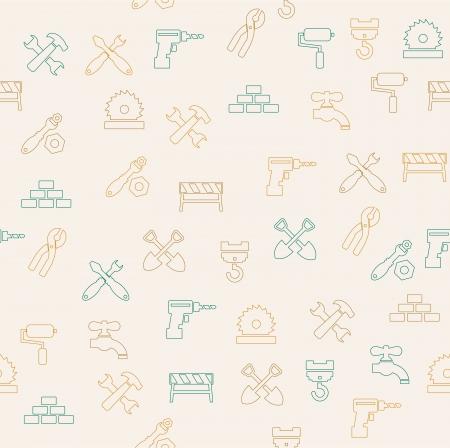 repairing: Repairing seamless pattern Illustration