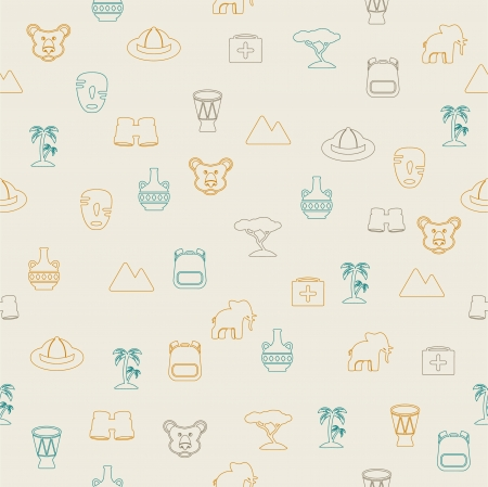 African seamless pattern Stock Vector - 20147676