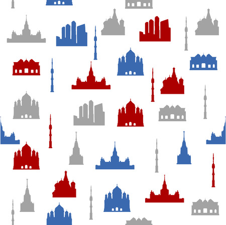 Moscow seamless pattern Vector