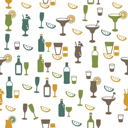 Drinks seamless pattern Vector