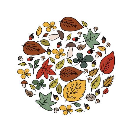 Autumn beauty card Vector