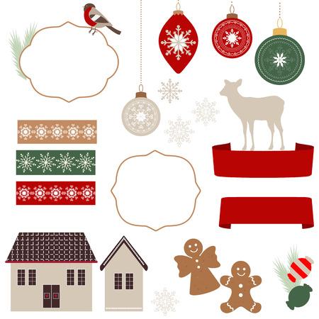 galletas de jengibre: Iconos de la Navidad e ilustraciones