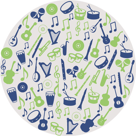 music instruments: Musical instrument icons